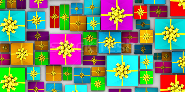 Wrapped Gifts Stock photo © kentoh