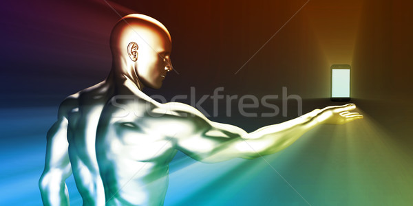 Business mobilità professionali smartphone sfondo Foto d'archivio © kentoh