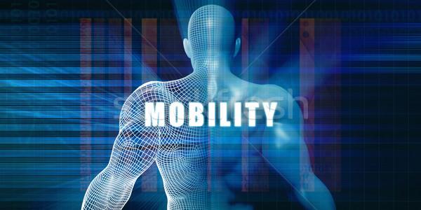 Mobilität futuristisch abstrakten Technologie Stock foto © kentoh