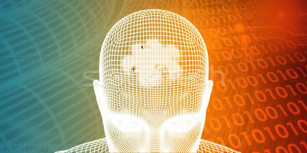 Gehirn Hacke Erfolg Motivierung abstrakten Hintergrund Stock foto © kentoh