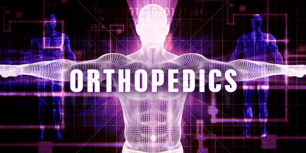 Ortopédia digitális technológia orvosi művészet férfi technológia Stock fotó © kentoh