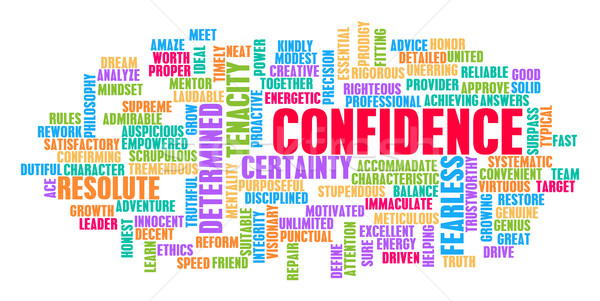 Confidence Word Cloud Concept Stock photo © kentoh