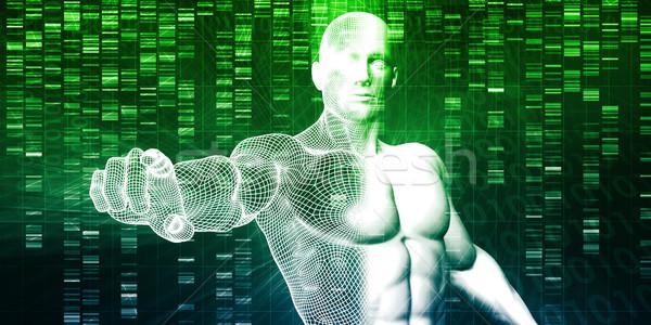 Badania naukowe genetyczny DNA nauki zdrowia muzyka Zdjęcia stock © kentoh