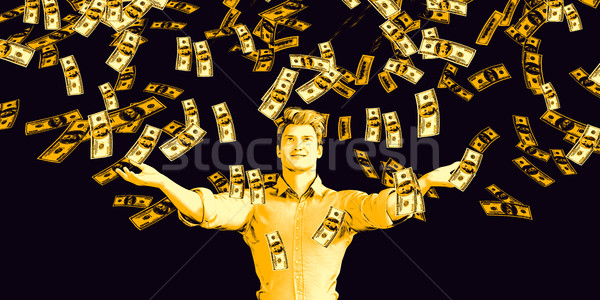 Man Catching Money Falling From the Sky Stock photo © kentoh