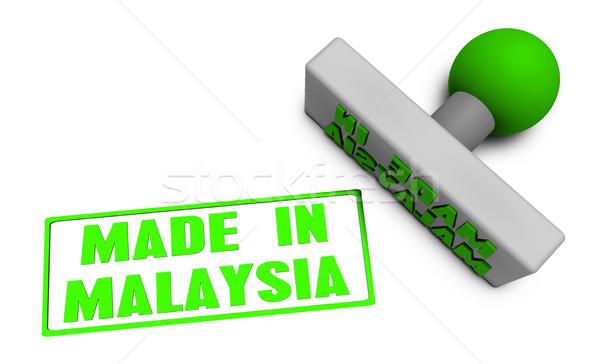 Malásia carimbo papel 3D comida Foto stock © kentoh