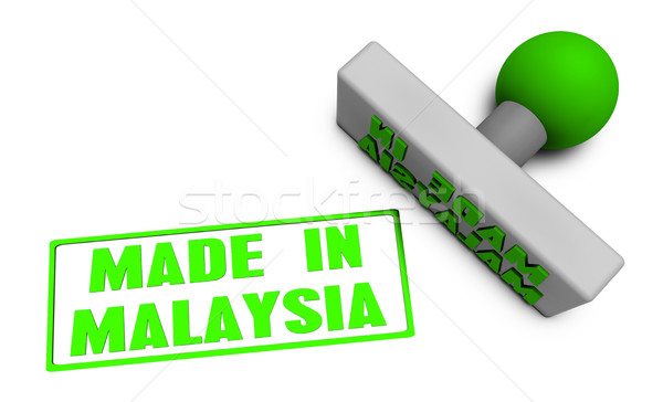 Made in Malaysia Stamp Stock photo © kentoh