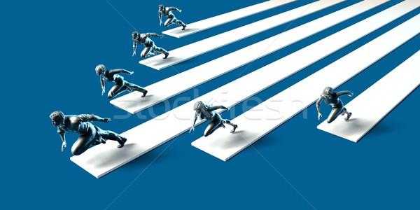 Vezetőség stratégia csapat dinamika vállalati grafikon Stock fotó © kentoh