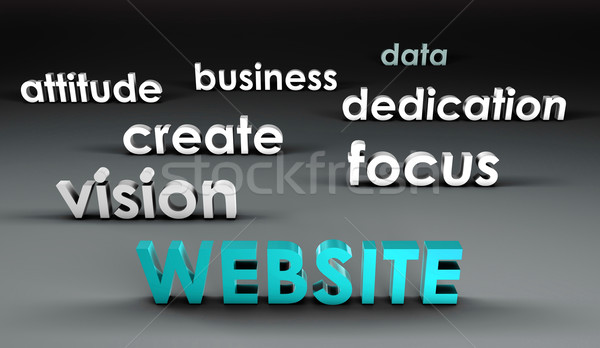 Website at the Forefront Stock photo © kentoh