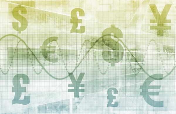Abbondanza gestione finanziare piano abstract grafico Foto d'archivio © kentoh