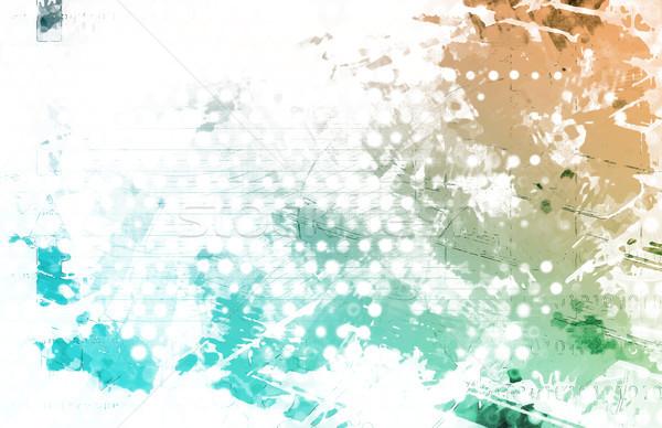 芸術的 グランジ スプラッタ 印刷 パターン 芸術 ストックフォト © kentoh