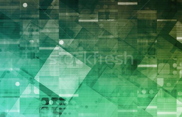 Photo stock: Protection · des · données · sécurité · centre · réseau · entreprise · société