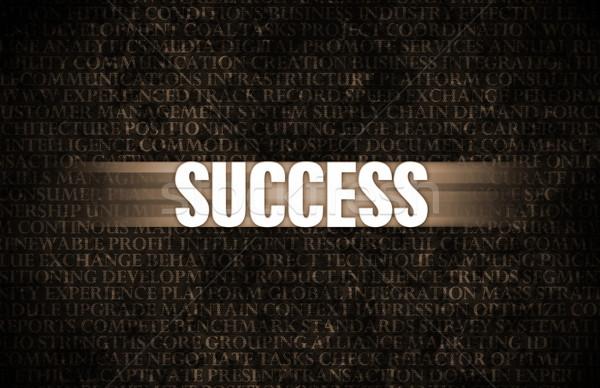 Siker üzlet motiváció kőfal fal háttér Stock fotó © kentoh