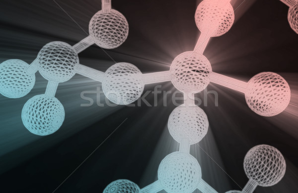 Moleculair structuur model web geneeskunde patroon Stockfoto © kentoh
