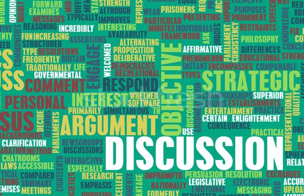 Megbeszélés vita szóbeli művészet iskola háló Stock fotó © kentoh