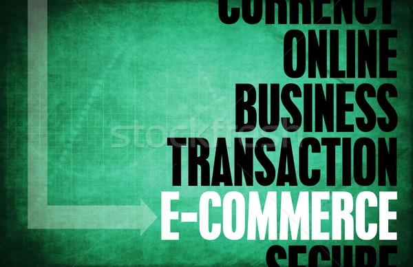 Ecommerce nucleo principi business retro digitale Foto d'archivio © kentoh