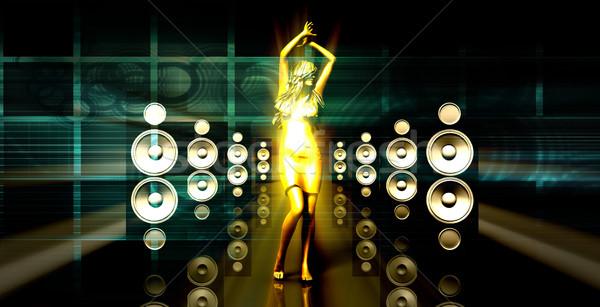 Festiwal muzyczny koncertu światła tekstury streszczenie Zdjęcia stock © kentoh