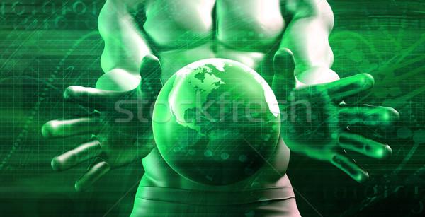 Nieograniczony wzrostu sukces działalności edukacji sieci Zdjęcia stock © kentoh