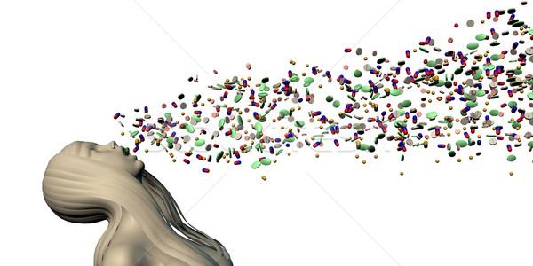 Fogyasztás tabletták gyógyszer antibiotikum tabletta veszély Stock fotó © kentoh
