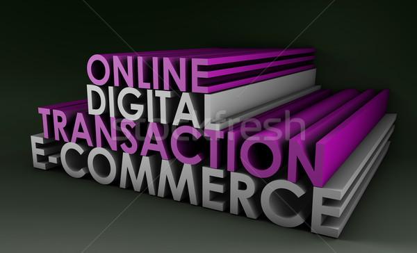 Online cyfrowe transakcja ecommerce komputera Zdjęcia stock © kentoh