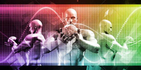 Internationale bedrijfsleven handel abstract kunst wereldbol achtergrond Stockfoto © kentoh