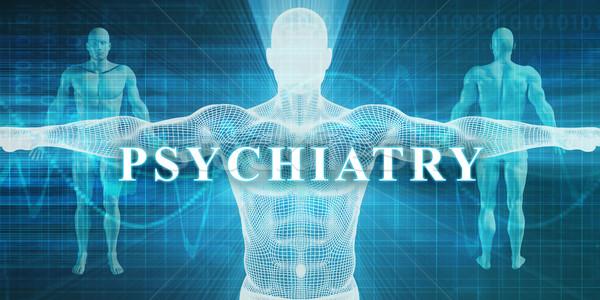 Psychiatrie medizinischen Spezialität Bereich Abteilung Mann Stock foto © kentoh