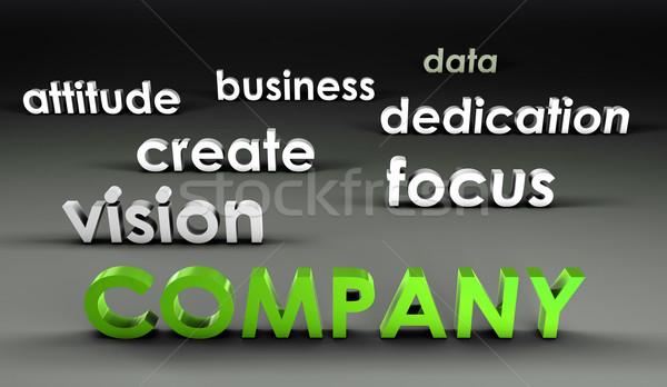 Bedrijf 3D presentatie business achtergrond corporate Stockfoto © kentoh