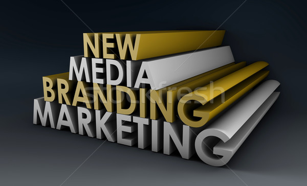 Marketing Marke neue Medien Internet Hintergrund Stock foto © kentoh