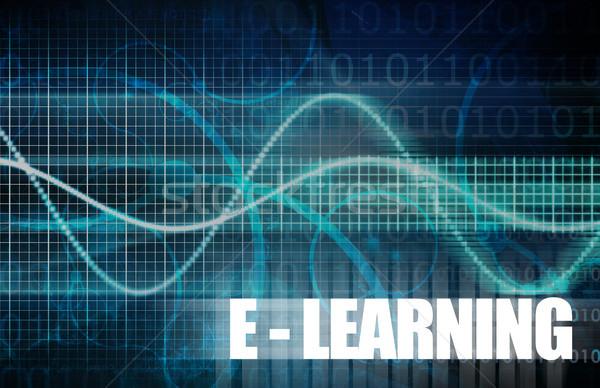 Eletrônico aprendizagem on-line educação teia Foto stock © kentoh