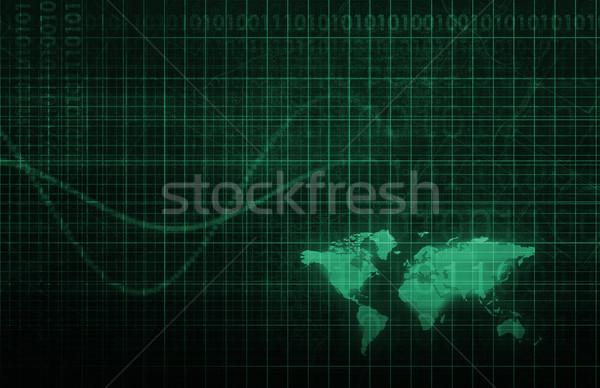 Integrado fluxo de trabalho negócio computador teia industrial Foto stock © kentoh
