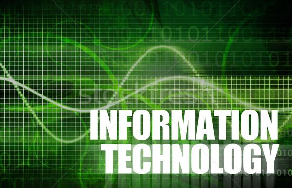 Bilgi teknolojisi iş soyut teknoloji arka plan bilgisayarlar Stok fotoğraf © kentoh