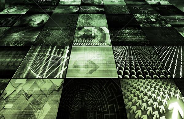 デジタル マルチメディア コンテンツ インターネット ウェブ ネットワーク ストックフォト © kentoh