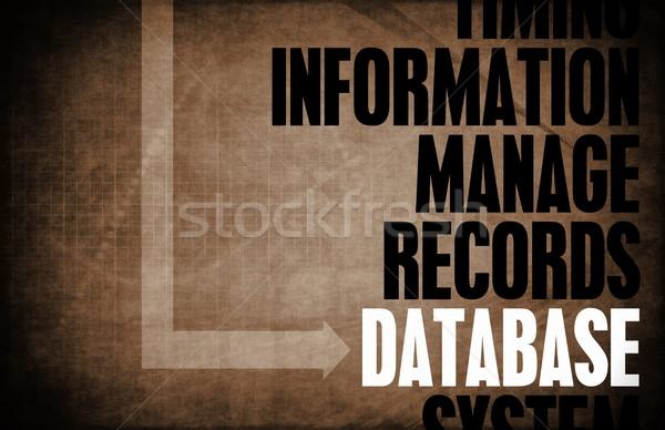 Bazy danych rdzeń zasady działalności retro cyfrowe Zdjęcia stock © kentoh