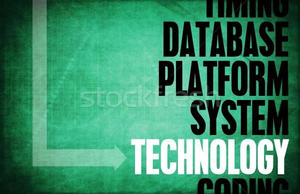 Tecnología núcleo principios negocios retro digital Foto stock © kentoh