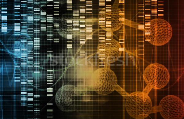 Genetyczny inżynierii nauki sztuki korporacyjnych życia Zdjęcia stock © kentoh