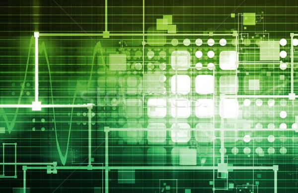 Technológia mérnöki hullámhossz spektrum háló adat Stock fotó © kentoh
