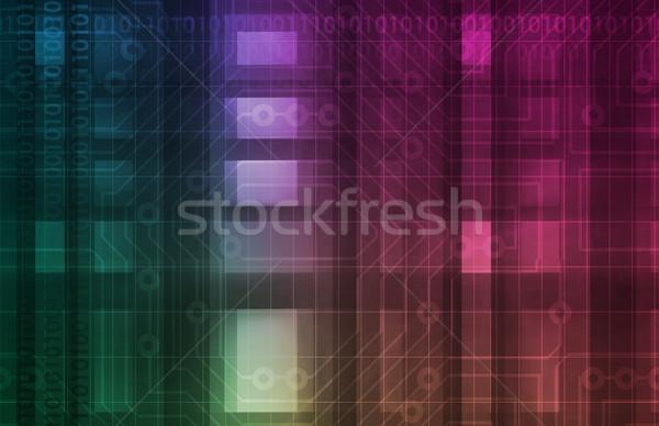Futurisztikus technológia tudomány autó absztrakt terv Stock fotó © kentoh