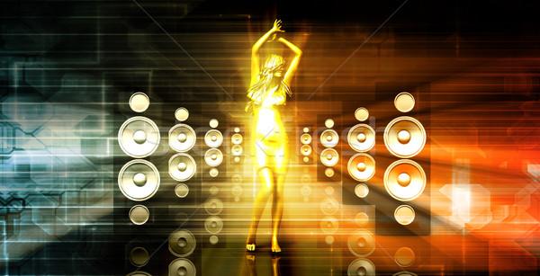 Lady in the Nightclub Stock photo © kentoh