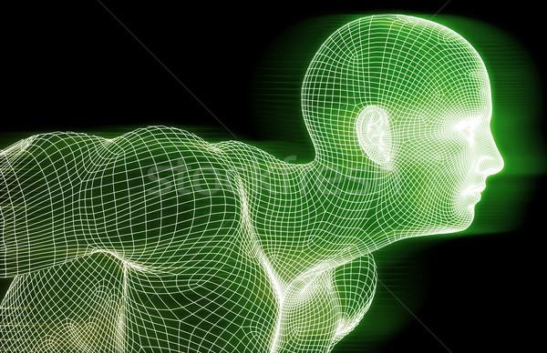 Uygunluk teknoloji bilim yaşam tarzı spor vücut Stok fotoğraf © kentoh