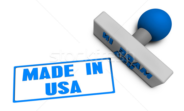 Made in USA Stamp Stock photo © kentoh