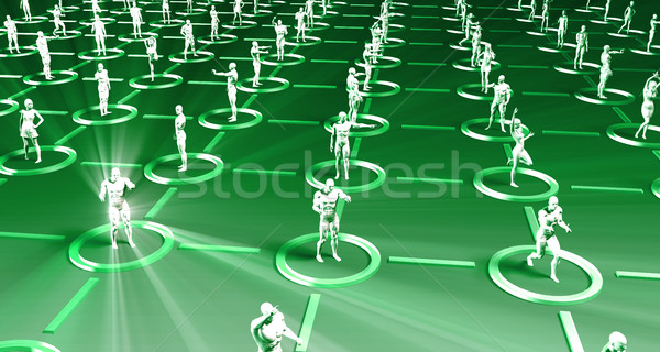 Marché recherche cible démographique analyse 3D Photo stock © kentoh