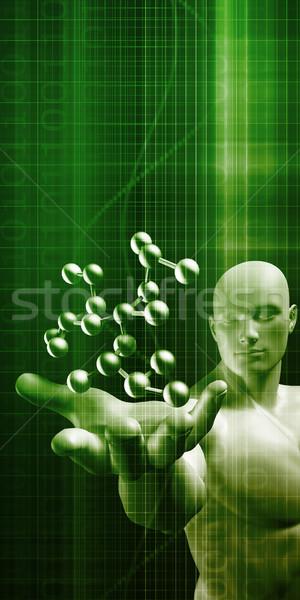 Nauki molekularny DNA struktury streszczenie technologii Zdjęcia stock © kentoh