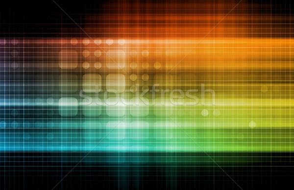 Technológia hálózat adat hálózat háló vállalati Stock fotó © kentoh