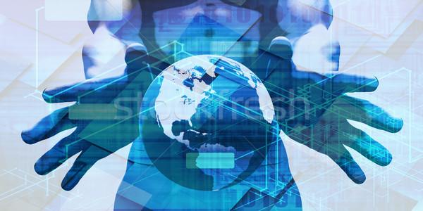 Mondial plate-forme internationaux mobilité logiciels réseau Photo stock © kentoh