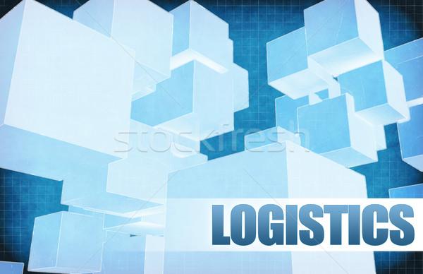 Logistiek futuristische abstract presentatie slide ontwerp Stockfoto © kentoh