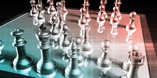Beheer strategie business besluitvorming procede achtergrond Stockfoto © kentoh