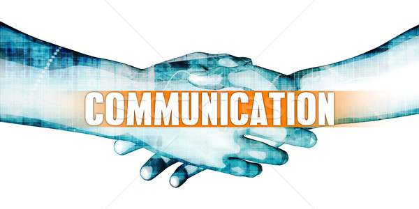 Communication affaires handshake blanche mains fond Photo stock © kentoh
