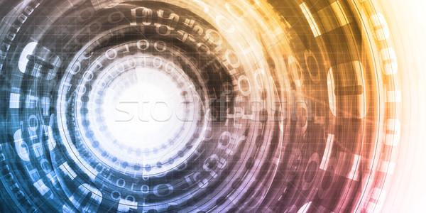 Bináris adat absztrakt digitális technológia internet háttér Stock fotó © kentoh