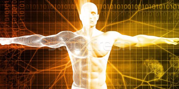 Digitális anatómia technológia absztrakt test gyógyszer Stock fotó © kentoh