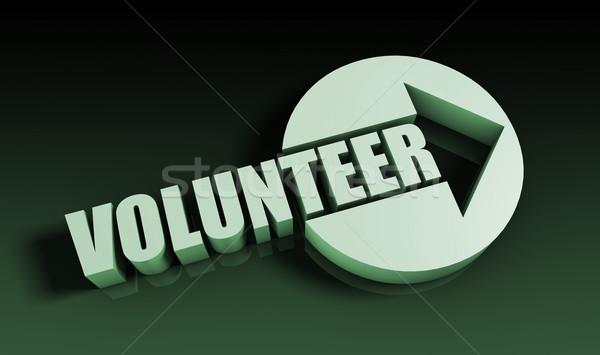 Voluntario flecha negocios clave tabla presentación Foto stock © kentoh