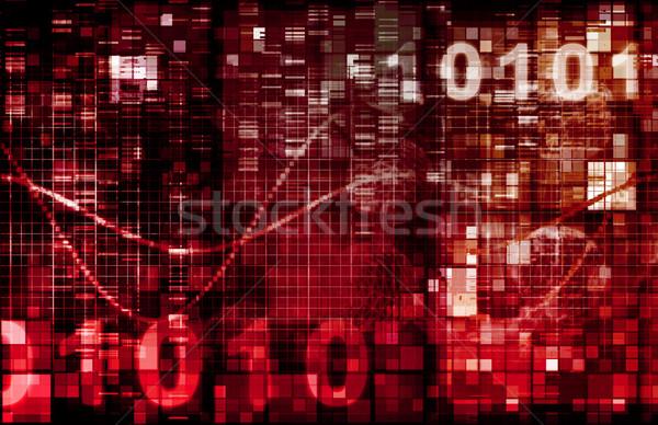 デジタル バイナリコード 画像 技術 コンピュータ 背景 ストックフォト © kentoh